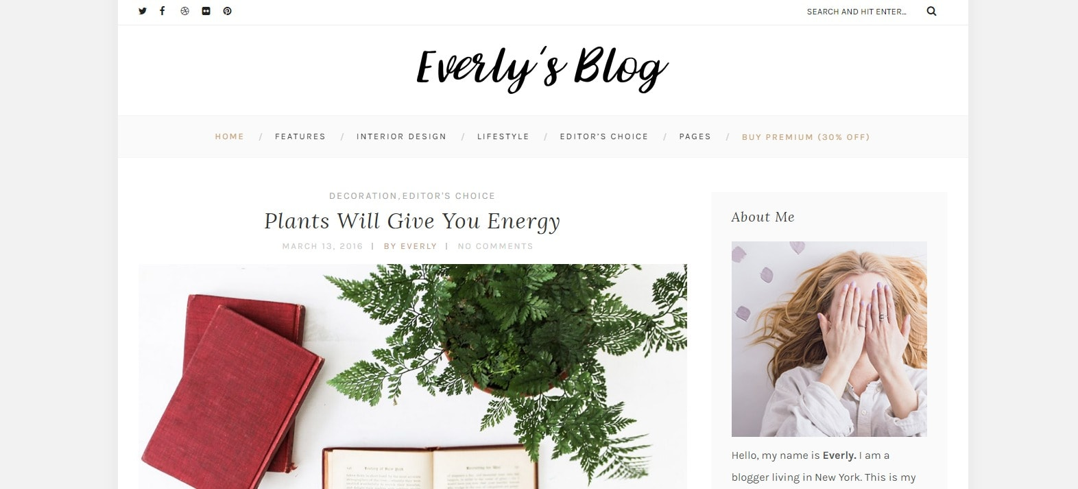 8 fashion tema za tvoj blog Everly Lite