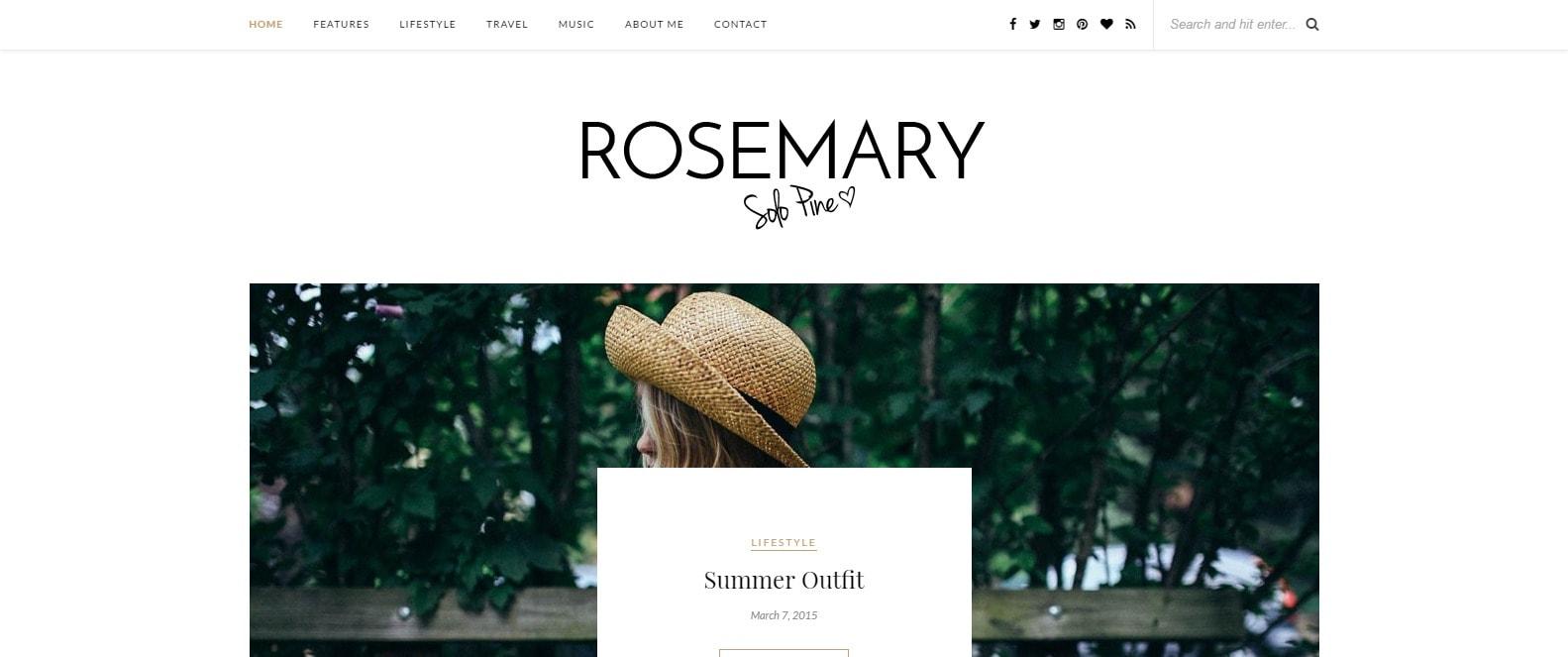 8 fashion tema za tvoj blog Rosemary