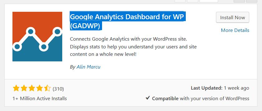 Google Analytics Dashboard for WP (GADWP)