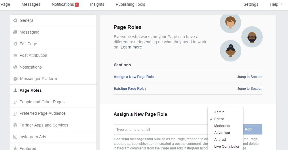 Page role- Kreiranje Facebook stranice-min