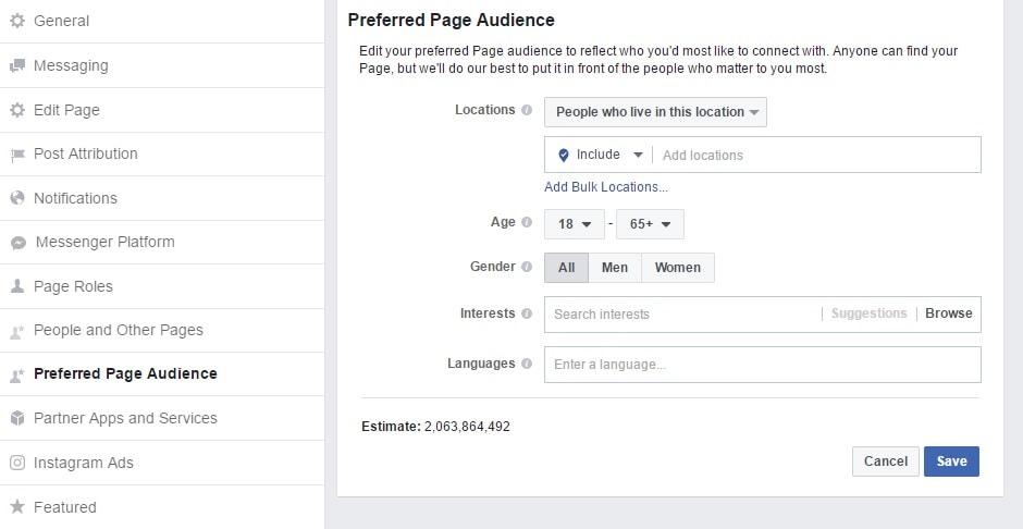 Prefered Audience- Kreiranje Facebook stranice- Ženski Poslovni kutak
