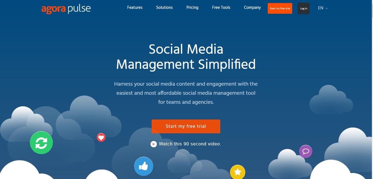 alati za upravljanje društvenim mrežama-agorapulse-ženski poslovni kutak