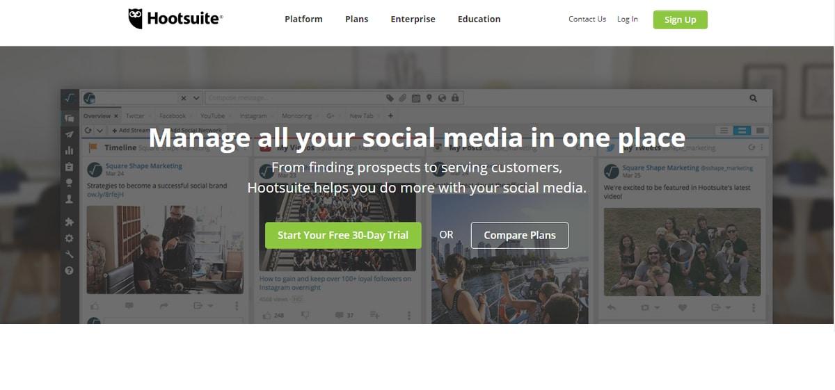 alati za upravljanje društvenim mrežama-hootsuite